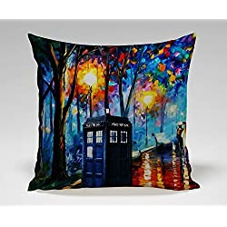Doctor Who Tardis Box Painting Art Pillow Case (20*30 inches one side)