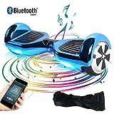 BEBK Hoverboard, 6.5 Zoll Self Balancing Scooter mit Bluetooth Lautsprecher - Tragetasche - LED Lights Elektro Scooter (Carbon)