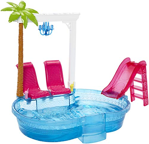 Barbie DGW22 - Modepuppen, Barbie Glam Pool