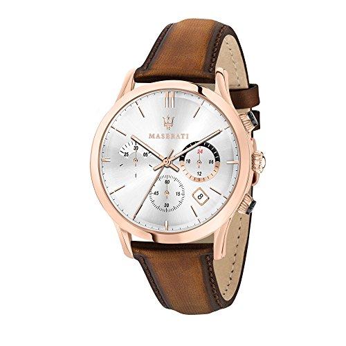 MASERATI Orologio Cronografo Quarzo Uomo con Cinturino in Pelle R8871633002