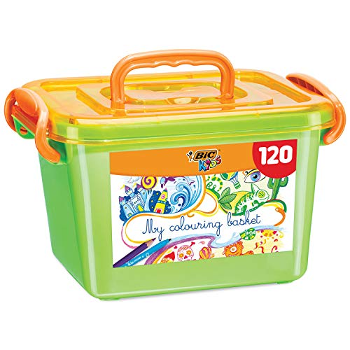 BIC Kids Colouring Box - 60 Matite per Colorare/60 Pennarelli per Colorare