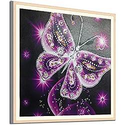 Xmansky DIY 5D Kit de Pintura de Diamante,DIY 5D diamond painting, Diamantes de imitación de Diamante Bordado de Punto de Bling Diamond Butterfly
