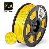 Enotepad PLA Plus 3D Printer Filament, 1.75mm PLA Plus Filament, Dimensional Accuracy +/- 0.02mm,Soft & Non-toxic Material, Enotepad PETG (0-PLA, Gold)