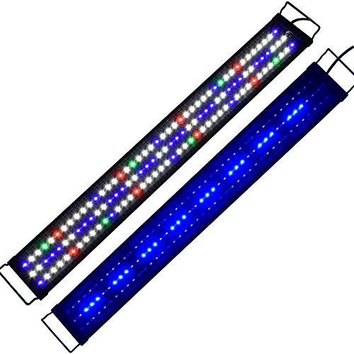 Lumiereholic Aquarien Eco Tageslichtsimulation Aquarium LED Beleuchtung Lampe für Süßwasser Meerwasser voll Spectrum Reef Coral Fish Wasserpflanzen Aquariumleuchte Aufsetzleuchte 90CM A149