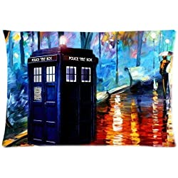 Doctor Who - Glow In The Dark TV Show Pillowcase The Doctor & The Tardis Size: 20
