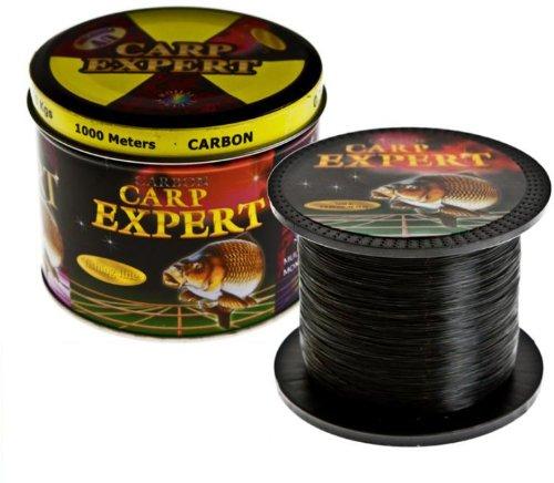 Carp Expert Carbon 1000m 0,35mm 14,90kg Karpfenschnur Angelschnur Monofile Schnur