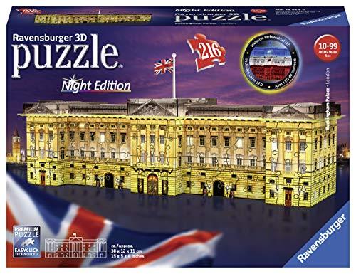 Ravensburger 12529 - Puzzle 3D di Buckingham Palace nella notte