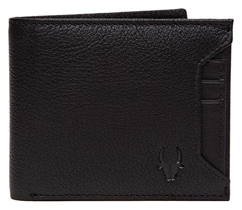 WildHorn® RFID Protected Genuine Leather Wallet for Men(Black)