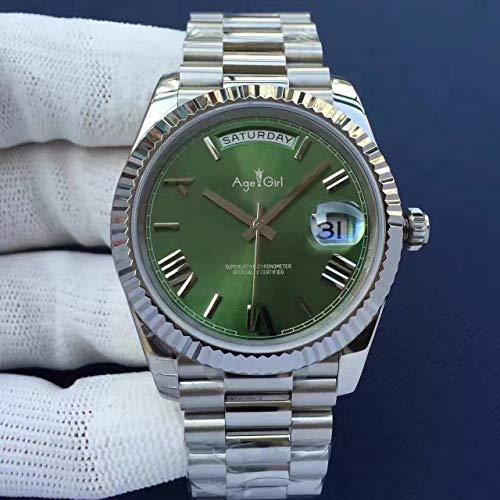 AHELUSB Luxury Mens Gold Silver Black Blue Orologio Automatico Meccanico Acciaio Inossidabile...