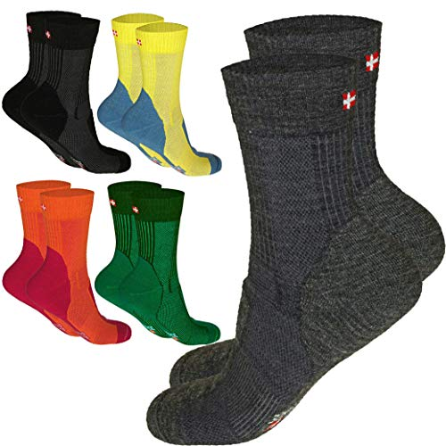DANISH ENDURANCE Merino Wool Light Cushion Socks (EU 43-47, Verde Oscuro - 1 Par)