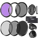 Neewer® 67MM debe tener la lente filtro accesorio Kit de cámaras para CANON Rebel T5i T4i T3i T3 T2i, EOS 700D 650D 600D 550D 70D 60D 7D 6D DSLR Cámara EF-S con18-135 MM es lente de zumbido STM - incluye: 67 MM filtro de Kit (UV, CPL, FLD) + filtro de densidad neutra ND Set (ND2, ND4, ND8) + lleva bolsa + parasol de objetivo plegable + Tulip parasol de objetivo + tapa Snap-On frontal del objetivo + tapa Keeper Correa + paño de Liempieza microfibras