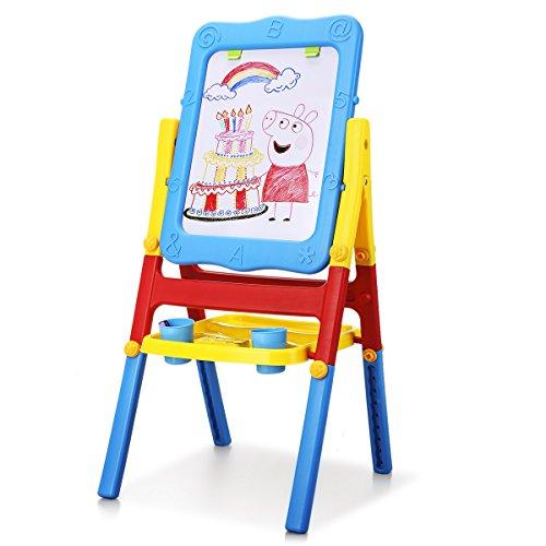 Shinehalo Lavagna Magnetica per Bambini Cavalletto Doppia Faccia Bambini 2-in-1 Lavagna Magnetica...