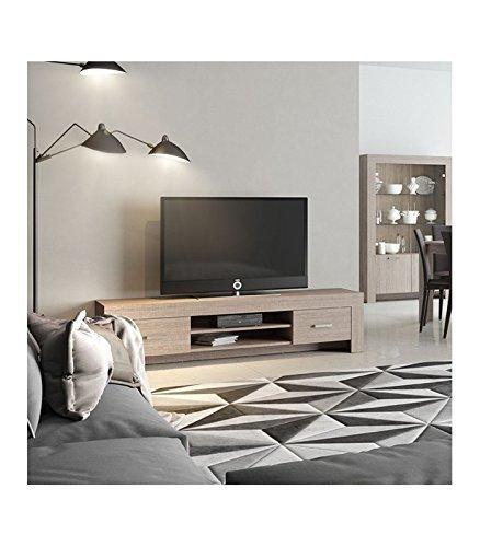 InHouse srls Mobile Porta TV, Moderno, in Legno, Olmo Eclisse, 1830x47 45H.