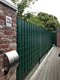 Sichtschutz SIGMA für Doppelstabmatten 26 lfdm in moosgrün, 'Made in Germany'