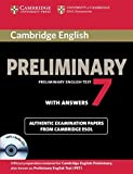 Cambridge English Preliminary 7 Student's Book Pack (Student's Book with Answers and Audio CDs (2)) [Lingua inglese]