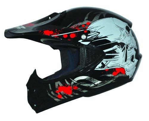 #ATO-Helme Kids Pro Kinderhelm Crosshelm Schutzhelm Motorradhelm Quadhelm Kinder Cross BMX Helm (S 53/54cm, Schwarz)#