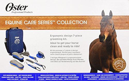 Oster - 78399-310 - Set de soins pour chevaux - 7 pièces - Bleu 30