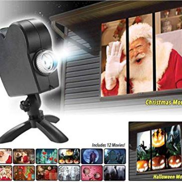 CATLXC Window Wonderland a mené des lumières de projecteur, 12 Films Voir la Lampe de Projection de Noël de Halloween, décorations de Festival extérieures/intérieures