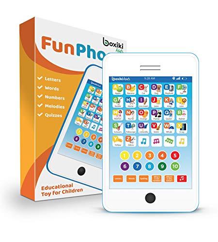 Boxiki kids Tablet Phone per Bambini con 6 Giochi educativi interattivi Tablet per Numeri di...