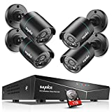 SANNCE 5-in-1 8CH 1080N Outdoor Camera System with 1TB Surveillance Hard Drive and 4pcs AHD720P Weatherproof CCTV Camera, Motion Detection, Email Alert, Mobile Phone Control, Smart Home Surveillance S