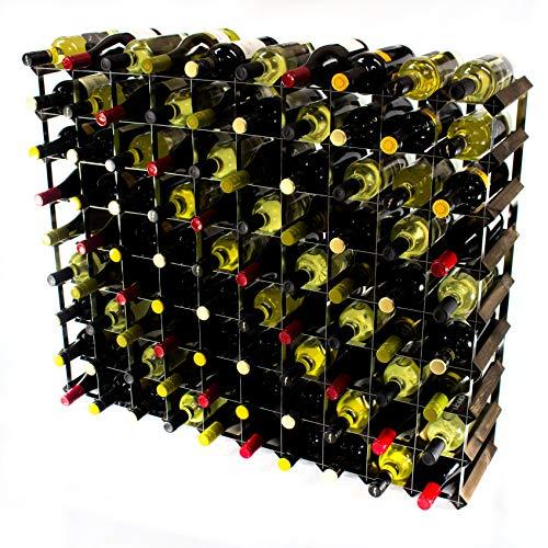 Cranville wine racks Classica cantinetta per 90 Bottiglie di Vino, Realizzata in Robusto Legno di...