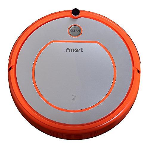 Fmart-Aspirateur-Robot-Autonome-YZ-Q2-Nettoyeur-de-plancher-Vadrouille-sche-avec-rservoir-deau-Robotic-nettoyer-pour-Animaux-Allergnes-Accueil-Horaires-de-rechargement-automatique-Orange-Argent-EU-la-