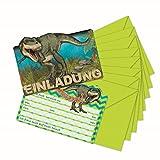 Lutz Mauder TapirElla Stanzkarte 26023 Einladungskarten-Set Dinosaurier, T-Rex