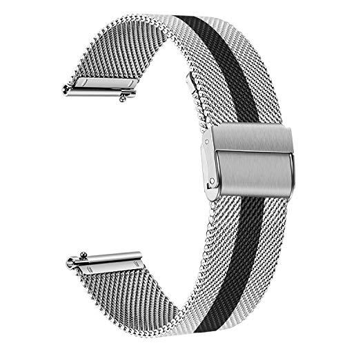 TRUMiRR Sostituzione per Huawei Watch GT 2 46mm/Huawei Watch GT Elegant Cinturino, Cinturino in Acciaio Inossidabile Cinturino in Tessuto a Maglia Metallica per Huawei Watch GT/Amazfit GTR 47mm