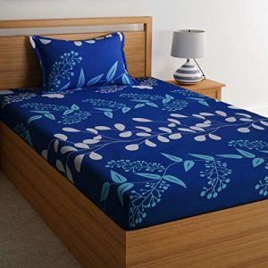 Home Ecstasy 100% Cotton Printed Bedsheet Set 3016 SGL (Blue,Single) 25  Home Ecstasy 100% Cotton Printed Bedsheet Set 3016 SGL (Blue,Single) 517b1hD6GGL