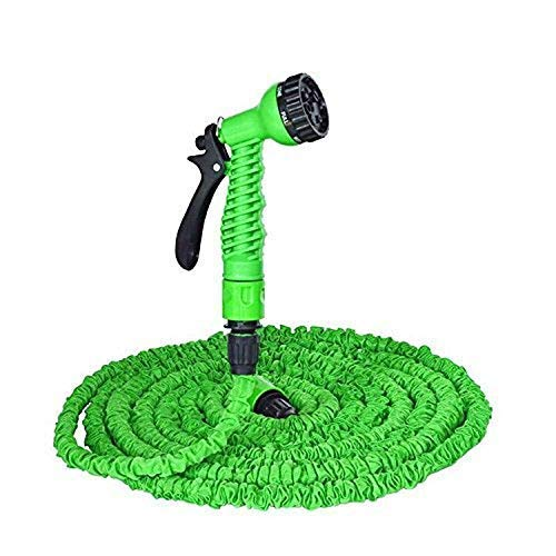 Magic Hose Ardith 50 ft Plastic Expandable Nozzle Flexible Water Hose Pipe with Spray Gun and 7 Adjustable Modes