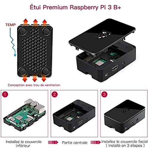 ABOX Raspberry Pi Nero Nero Kit 3B Plus + 32 Go