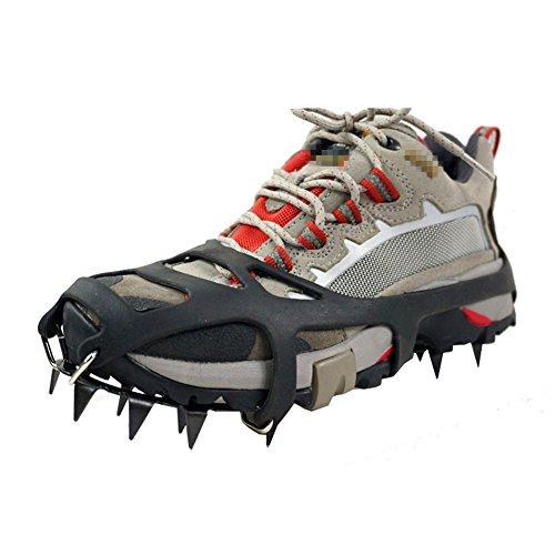 TourKing Winter Ice Traction Cleats Universal 18 dientes, equipo de escalada Crampones Pinzas para hielo Crampon Ice Snow Ground Antideslizante