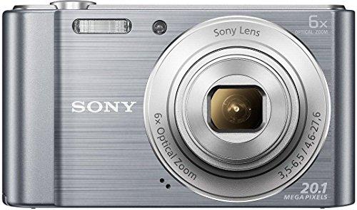 Sony Cybershot DSC-W810/SC 20.1MP Digital Camera with Free Memory Card 16GB (Silver)
