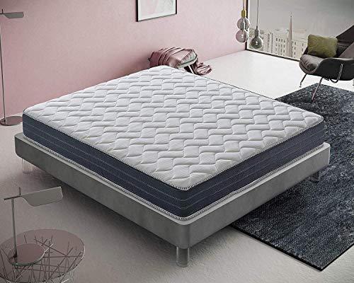 Materassiedoghe - Materasso Memory Foam Matrimoniale 160x200-11 Zone differenziate Ortopedico...