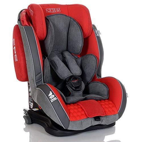 Seggiolino Auto GT Isofix 9-36 kg Reclinabile Bambini Gruppo 1 2 3, Rosso