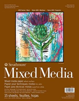 Strathmore 62462111 - Papel de dibujo (300 gsm, 15 hojas), color marrón
