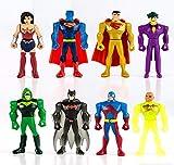 SET COMPLETO 8 Mini Figure 5cm JUSTICE LEAGUE Mighty Minis Serie 2 Personaggi Torta Trading Figures DC Comics Batman Joker Superman Wonder Woman Lanterna Verde