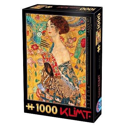 DToys Puzzle 1000 pièces - Klimt : Femme à l'éventail