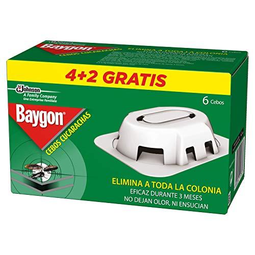 Baygon - Trappola esca per scarafaggi e formiche, 6 pezzi