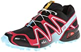 Salomon Speedcross 3 CS, Damen Traillaufschuhe, Schwarz (Black/Lotus Pink/Air), 38 2/3 EU (5.5 Damen UK)