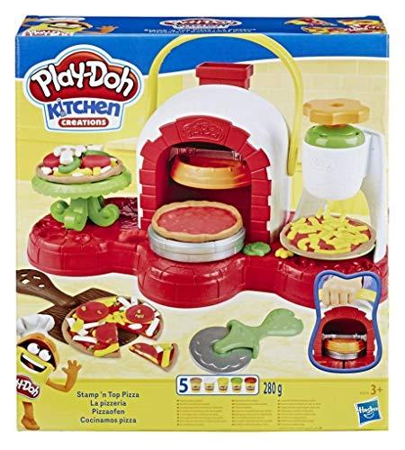 Play-Doh E4576EU4 La Pizzeria - Forno per pizza con 5 vasetti di pasta da modellare, Multicolore, 3...