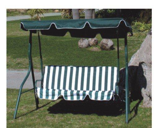 PAPILLON Dondolo da Giardino 3 Posti in Acciaio Verniciato Verde - Modello Amantea