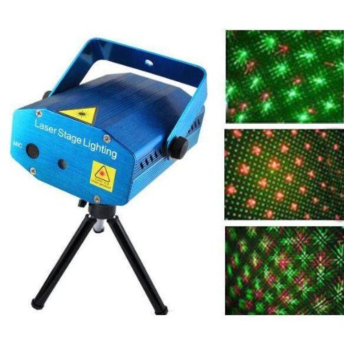 Cosmic Mini Laser Projector Stage Lighting Sound Activated Laser Light for Party and DJ