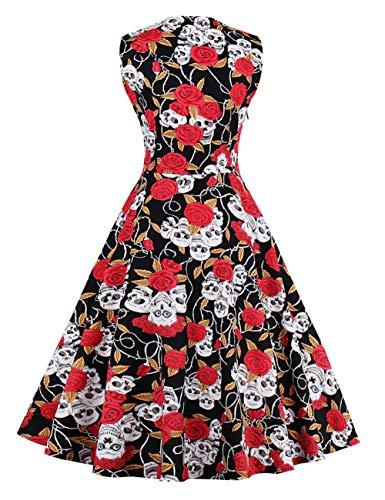 5dddf4a736d25 FeelinGirl Femme Robe Halloween Femme Robe Halloween Fille Costume ...