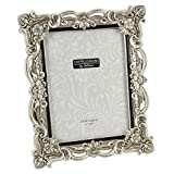 Impressions - Antique Silver Floral Resin Photo Frame With Crystals - 15cm X 20cm