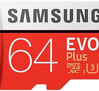 Samsung MB-MC64GA/AMZ – EVO Plus Micro SDXC da 64 GB fino a 100 MB / s, scheda di memoria U3 classe 10 (incluso adattatore SD) [Vecchio Modello]