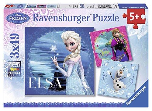Ravensburger 09269 7 - Frozen: Elsa e Anna, Puzzle 3x49 Pezzi