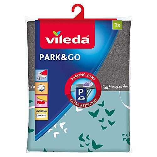 Vileda Park&Go Copriasse da Stiro Universale, in Cotone, con Strato Interno in Spugna, Rosso/Nero, 6...