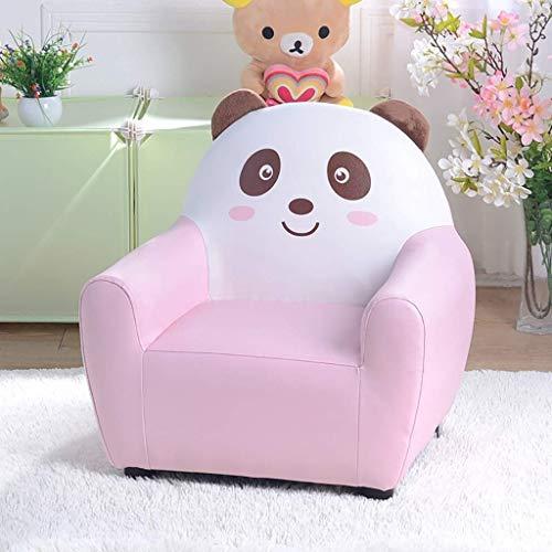 SXWW Bambini Divano Orso Poltrona in Stile Cervello Simpatico sofà di Arte Seduta del Divano in Pelle Bambino Cartone Animato del Bambino Pigro Protezione Ambientale,Rosa