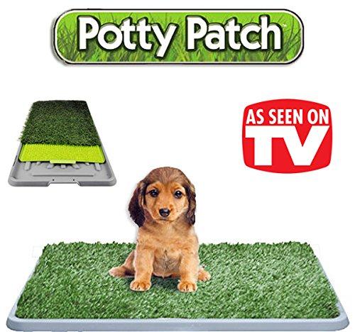 Die original Potty Patch-Katzenstreu in Kunstrasen für Hunde-WC matt WC ideal für Welpen-ersetzt Reinigungstücher saugstark-antibakteriell und geruchshemmend-Ideal für tun Pipi im Haus unserer Welpen-Für die Hunde bis 7kg-großen 70x 44x 5cm